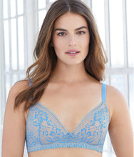 Load image into Gallery viewer, GLAMORISE Light Blue Perfect A Shape Enhancing Padded Bra, US 48A, UK 48A, NWOT