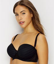 Load image into Gallery viewer, FREYA Black Cameo Underwire Deco Strapless Contour Bra, US 34I, UK 34G, NWOT