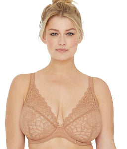 Glamorise NUDE Elegance All Lace Wonderwire Bra, US 40G, UK 40F