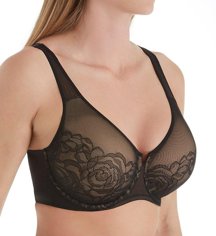 Wacoal BLACK Stark Beauty Bra, US 32G - racks-op