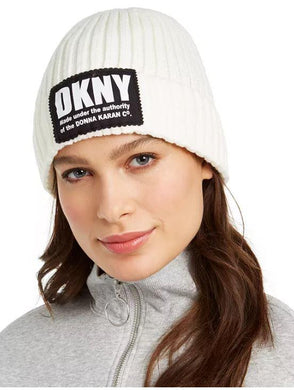 Dkny Ivory Fleece-Lined Knit Beanie, One Size
