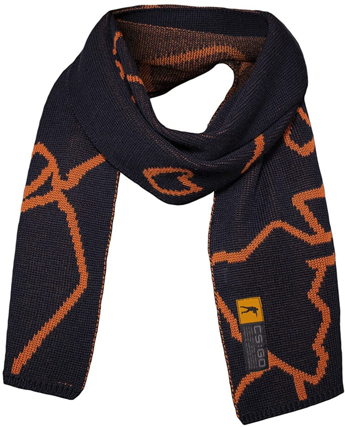 Musterbrand BLUE Counter-Strike Knit Scarf Merino Wool, US One Size