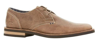 Original Penguin BROWN Wade Leather Lace-up Oxford Shoes, US 8.5D