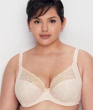 Load image into Gallery viewer, ELOMI Caramel Kim Underwire Stretch Lace Plunge Bra, US 34J, UK 34GG, NWOT