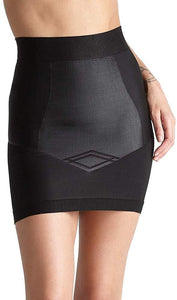 Yummie BLACK Control Nouveau Shaping Skirt Slip with Built in Thong, US Large