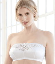 Load image into Gallery viewer, Glamorise WHITE Complete Comfort Strapless Bandeau Bra, US 48B/C/D