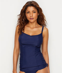 Panache NAVY Anya Underwire Tankini Swim Top, UK 34DD - racks-op