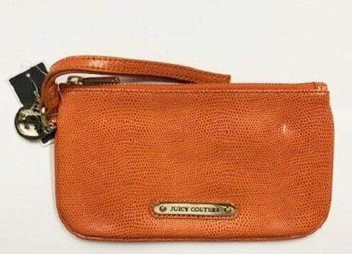 Juicy Couture Orange Simple Leather Wristlet