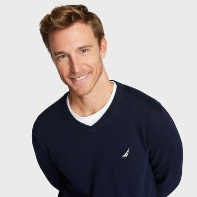 Nautica Men's NAVY Classic Fit Navtech Soft V-Neck Sweater, 3XL