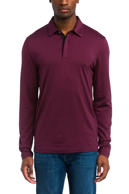 Theory CHIANTI Sartorial Incisive Long Sleeve Polo Shirt, US Large
