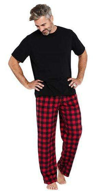 Karen Neuburger RED/BLACK Men's Plaid Fleece Pajama Set, Size US Large