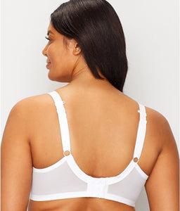 Elomi WHITE Energise Underwire Sports with J Hook Bra, US 44DD, UK 44DD
