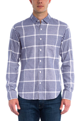 Bonobos MEDIEVAL BLUE Brushed Button Down Shirt, US X-Small/SH