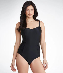 PANACHE BLACK ANYA UNDERWIRE ONE-PIECE SWIM SUIT, SIZE US 34E - racks-op
