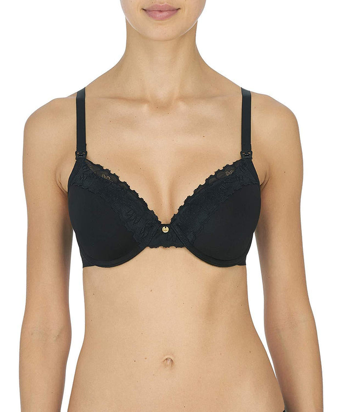 Natori BLACK Hidden Glamour Maternity Bra, US 38D, UK 38D