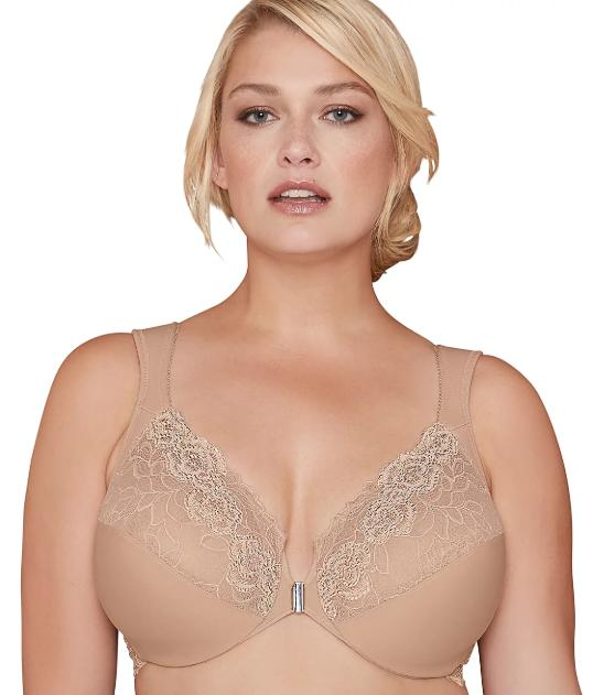Bramour Nude Brooklyn Front-Close Bra, Size US 44F NWOT - racks-op