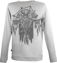 Load image into Gallery viewer, Musterbrand GREY Blizzard Banner of the Horde Longsleeve, US Medium