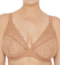 Load image into Gallery viewer, Glamorise NUDE Plus Size Elegance All Lace Wonderwire Bra, US 44D, UK 44D