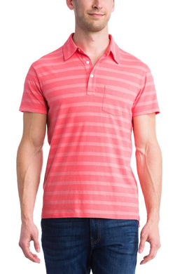 Grayers CLARET RED Hastings Textured Stripe Polo, US Small