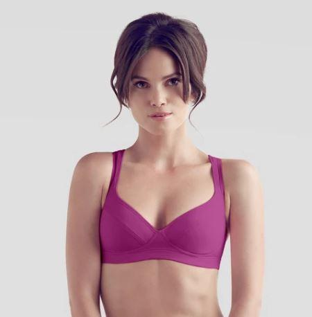 The Little Bra Company CASSIS Women's Wire-Free Sports Bra, Size US 34A - racks-op