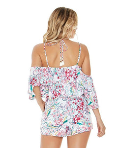 L*Space PAISLEY PERFECT Seaside Romper, US Small