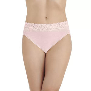 Vanity Fair SHEER QUARTZ Flattering Lace Comfort Hi-Cut Panty, US 6/Medium