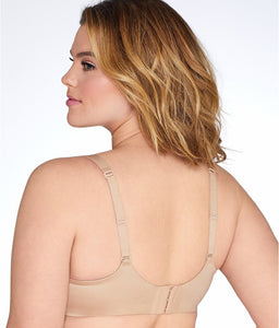 Curvy Couture BOMBSHELL NUDE Tulip Lace Bra, US 44H, UK 44FF - racks-op