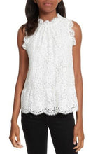 Load image into Gallery viewer, Joie PORCELAIN Marineth Lace Blouse Top, US X-Small