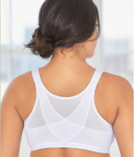 Load image into Gallery viewer, Glamorise WHITE Posture Back Support Front Close Bra, US 42F, UK 42E