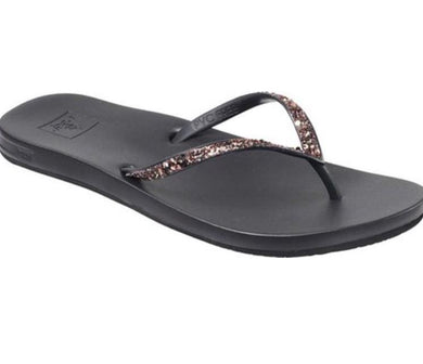 Reef Women's Black/Bronze Cushion Stargazer Flip Flop, 6