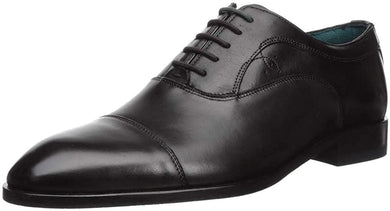Ted Baker BLACK Fually Leather Cap-Toe Oxfords Shoes, US 11.5