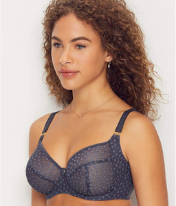 FREYA Slate Starlight Underwire Balcony Side Support Bra, US 38E, UK 38DD, NWOT