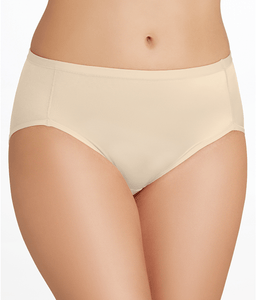 Vanity Fair DAMASK NEUTRAL Body Caress Hi Cut Brief Panty, US 8/X-large