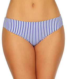 FREYA Cobalt Stripe Totally Stripe Bikini Swim Bottom, US Large, NWOT - racks-op