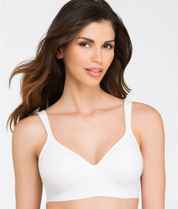 Bali WHITE Comfort Revolution Wire-Free Bra, US 40B, UK 40B - racks-op