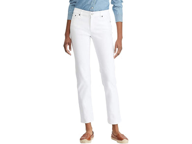 Ralph Lauren PERFECT WHITE WASH Premier Straight Jeans, US 6