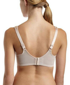 BALI Nude Satin Tracings Minimizer Underwire Bra, US 38DDD, UK 38E, NWOT