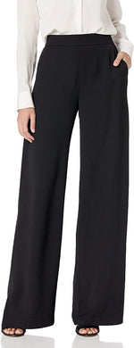 Parker Women's BLACK Wide Leg Rome Pants , 12