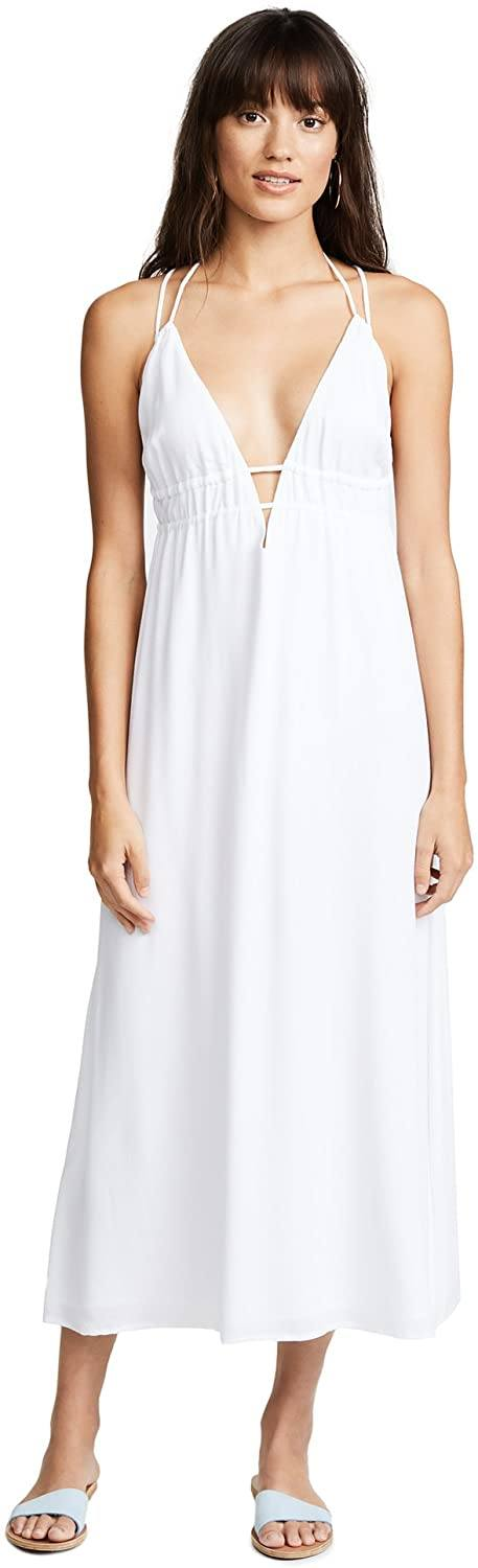 L*Space WHITE Beachside Beauty Dress, US Small