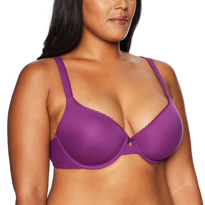 Paramour GRAPE JUICE by Felina Brushed Micro T-Shirt Bra, US 34G - racks-op