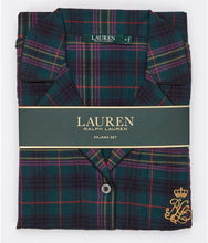 Load image into Gallery viewer, LAUREN RALPH LAUREN Green Plaid Sleeve Long Pants Pajama Set, US 1X, NWOT