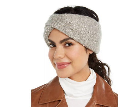DKNY Ivory Fleece-Lined Headband, One Size