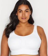Load image into Gallery viewer, Champion WHITE Plus Size Motion High Impact Underwire Sports Bra, US 38D, UK 38D - racks-op