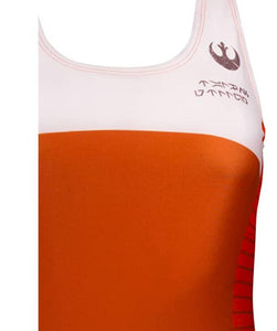 Musterbrand Women's Star Wars Orange Swimsuit Rebel Pilot , XS