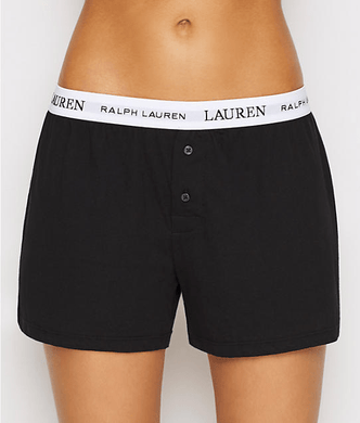Lauren Ralph Lauren BLACK Knit Sleep Boxer, US Medium - racks-op