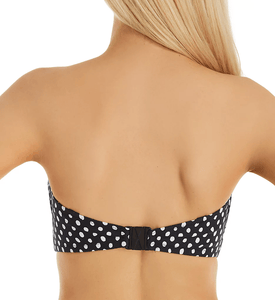 Fantasie BLACK/WHITE Santa Monica Underwire Bandeau Swim Top, US 34D, UK 34D