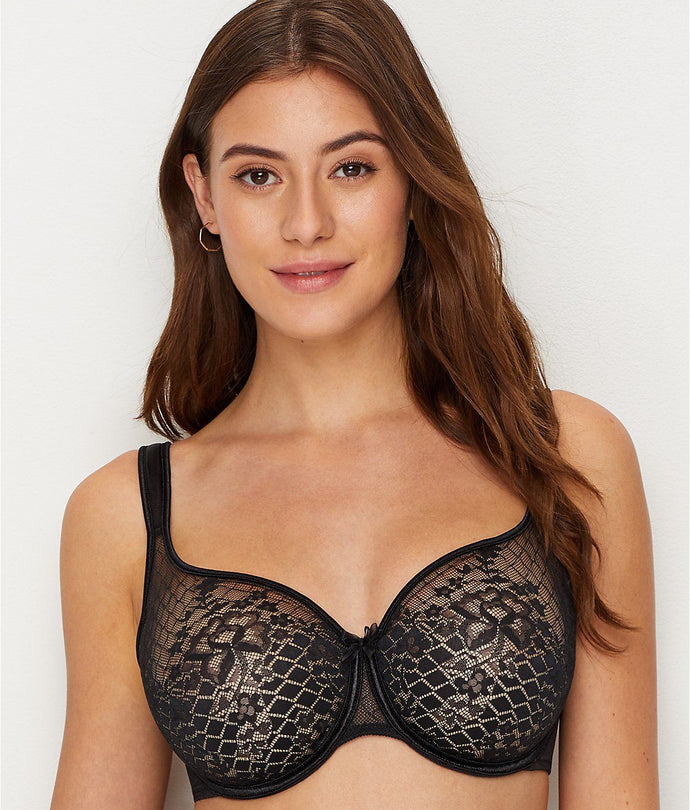 Empriente BLACK Melody Seamless Bra, US 32F - racks-op