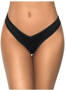 Maple BLACK High Leg Thong, Size Medium, NWOT - racks-op