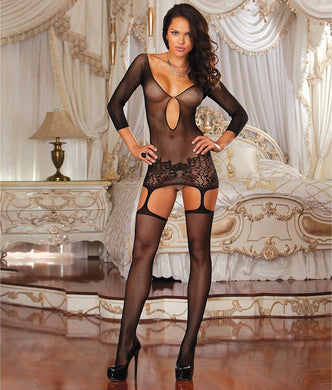 Dreamgirl BLACK Istanbul Garter Dress, US One Size - racks-op