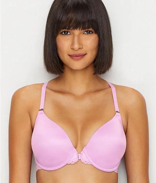 Maidenform LAVENDER SPARKLE One Fab Fit Extra Coverage T-Back Bra, US 36D - racks-op